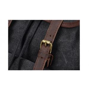 P07 OUTDOOR SCOUT™ Groß Wanderrucksack Damen / Herren. Dicke Baumwolle + Naturleder. A4 - 3 Farben