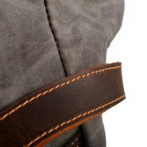 P09 WAX Vintage ™ Groß Damen und Herren Stadtrucksack aus gewachste Segeltuch + Naturleder. A4 - 2 Farben