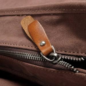 P14 NIVETTE™ Damen Rucksack dicke gewachste canvas mit naturleder. 4 Farben