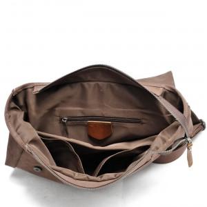 P14 NIVETTE™ Damen Rucksack dicke canvas mit naturleder. 4 Farben