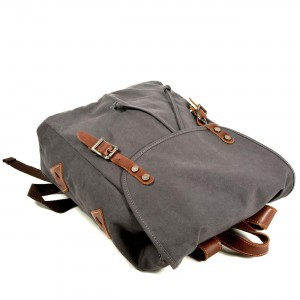 P14 WAX II HIPSTER™ Damen Stadtrucksack für Uni und Alltag aus Segeltuch gewachste + Naturleder. A4 - 3 Farben