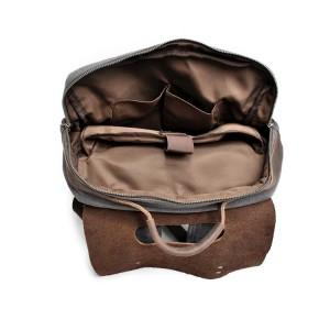 KP6 VINTAGE TAR MAX™ Rucksack Canvas und Leder. Damen / Herren - grau