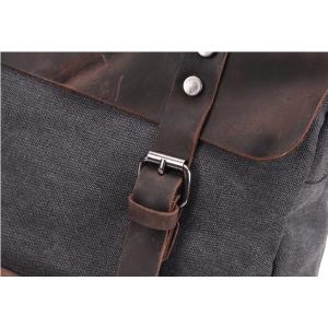 KP6 VINTAGE TAR MAX™ Rucksack Canvas und Leder. Damen / Herren - Kaffee