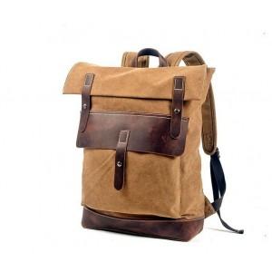 P8 STANFORD UNISEX™ Dicke Canvas und naturleder gross Rucksack mit Laptopfach für Damen und Herren  A4 - 5 Farben