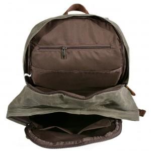 P9 WAX BOSTON UNISEX™ Rucksack gewachstes canvas und naturleder. Damen / Herren. 3 Farben
