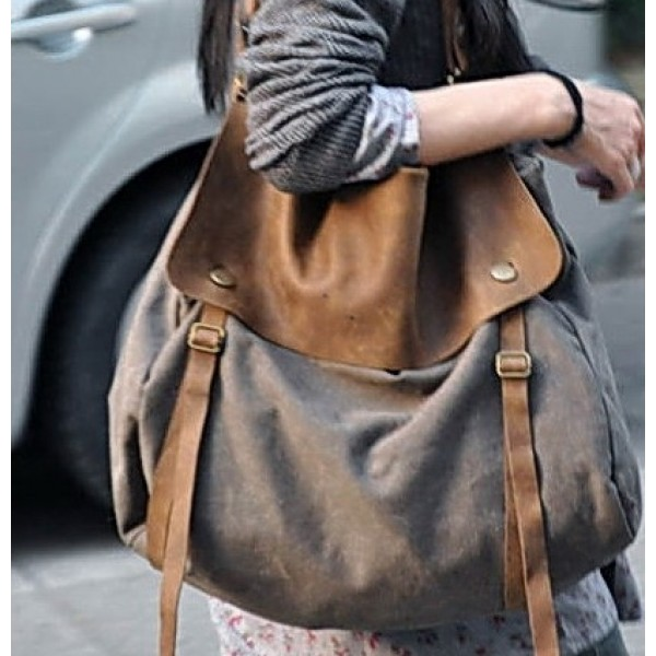 offizieller Preis Luxus-Ästhetik neue niedrigere Preise KA2 MAIL VINTAGE™ Damen Canvas und Leder Umhängetasche Schultertasche